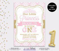 Princess party invite printable invitation pink and gold princess party invite printable invitation pink and gold custom invitation castle invite girls party birthday invite pinterest princess filmwisefo