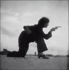 Woman in Barcelona, Spain training for a Republican militia, August 1936. By Gerda Taro (1910-1937)