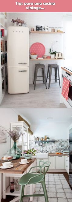Best kitchen vintage retro home decor ideas Kitchen Sink Diy, Kitchen Design, Kitchen Ideas, Dining Room Inspiration, Retro Home Decor, Cool Kitchens, Small Spaces, Sweet Home, New Homes