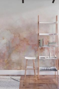 Buy Beautiful Pink and Gold Ombre marble under snow Wall Mural by dominiquevari Worldwide shipping available at Just one of millions of high quality products available Murs Pastel, Bedroom Wall, Bedroom Decor, Wall Painting Decor, Sponge Painting Walls, Inspiration Wand, Watercolor Walls, Interior Walls, Textured Walls