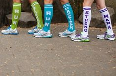 Best socks ever for a fun race. no compression here. Funky Socks, Cool Socks, Workout Attire, Workout Outfits, Another Mother Runner, Fun Race, Running Accessories, Sports Socks, Running Socks