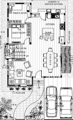 Contemporary 19 - House Designer and Builder 2 Storey House Design, Two Storey House, Modern House Floor Plans, Dream House Plans, Urban Architecture, House Architecture, Philippines House Design, Philippine Houses, Construction Contract