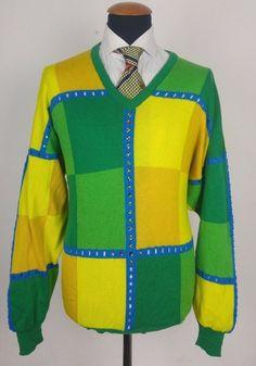 VTG GIANNI VERSACE 1994 size 52 V XXL Wool V-neck Sweater Hobo Hippy Hipster  | Clothing, Shoes & Accessories, Vintage, Men's Vintage Clothing | eBay!