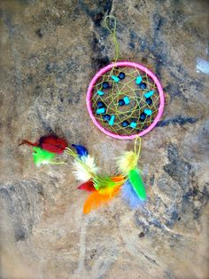 Beaded Dream Catcher with Feathers Handmade