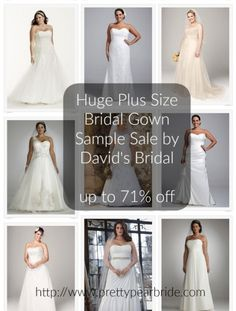 HUGE SAMPLE SALE on Plus Size Wedding Gowns up to 71% off | David's Bridal | Pretty Pear Bride