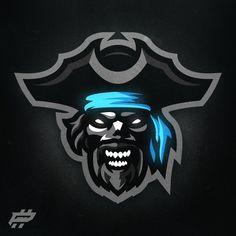 Fantasy Football Logos, Design Art, Logo Design, Graphic Design, Channel Logo, Esports Logo, Community Logo, Skull Logo, Mascot Design