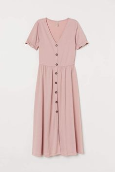 Summer Family Picture Outfits Discover V-neck Dress - Powder pink - Ladies Casual Cotton Dress, Cotton Dresses, Pink Dress Casual, Cheap Dresses, Casual Dresses For Women, Elegant Dresses, Formal Dresses, Wedding Dresses, Pink Dress Outfits
