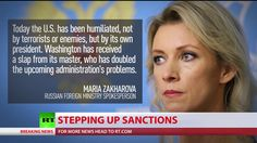 US imposed new set of anti-Russian sanctions.  '...humiliated by their own president':  Russian Foreign Ministry Spokesperson Maria Zakharova
