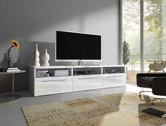 Mueble TV modelo Diana en color blanco sin led (1,5 m), (varios colores disponibles): Amazon.es: Hogar