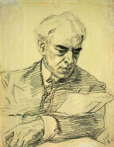 ВАЛЕНТИН СЕРОВ  Портрет К. С. Станиславского. 1908