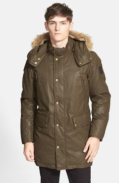 Belstaff 'Bainbridge' Down Parka with Genuine Coyote Fur Trim available at #Nordstrom