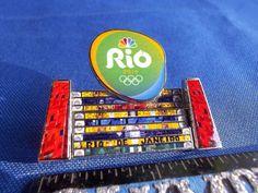 2016 Rio Olympic Media Pin NBC Famous Escadaria Selaron Lapa Steps Stairs