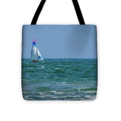 Leisurely Day Of Sailing Tote Bag featuring the photograph Leisurely Day Of Sailing by Debra Martz
