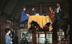 Movie: Tea Party on the Ceiling with Uncle Albert, the I Love To Laugh number from Mary Poppins.