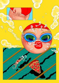 Meet illustrator Inji Seo's cast of curvy characters Graphic Illustration, Graphic Art, Funky Art, Arte Pop, Psychedelic Art, Cool Posters, Illustrations And Posters, Art Inspo, Comic Art