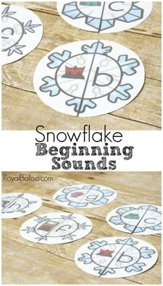 Practice beginning sounds with snowflake beginning sounds puzzles! Simple 1:1 matching with a letter and a wintery picture!