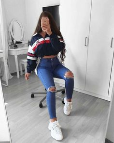 jugendkleidungsstil jugendkleider uk teenager mode tragen teenager 2019032 - The world's most private search engine Best Casual Outfits, Teen Fashion Outfits, Swag Outfits, Fashion Wear, Girl Outfits, Ladies Fashion, Fashionable Outfits, Spring Outfits, Urban Chic Outfits