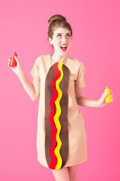 Diy hot dog costume last chance for free shipping halloween diy hot dog costume last chance for free shipping solutioingenieria Image collections