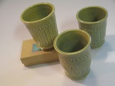 Set of 3 Wine Cups by MountainNonnaPottery on Etsy, $40.00