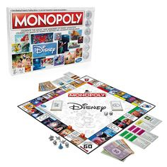 Delve into the world of Disney Animation - Monopoly style. This special edition of the classic board game features all your favorite characters from Disney's library of beloved films, including <i>Snow White and the Seven Dwarfs</i> and <i>Frozen</i>. Disney Go, Disney Games, Disney Family, Disney Mickey, Disney Movies, Disney House, Disney Stuff, Disney Princess, Monopoly Board