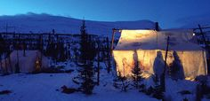 NEW: Innu Tent by Night