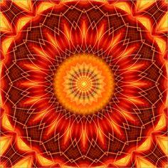 Poster Mandala Geometrie - © Christine Bässler - Bildnr. 515505