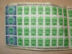 Green Shield Stamps were almost everywhere in the Britain of the 60s and 70s. If you bought your groceries at certain shops the retailer gave you stamps to stick in a book. Once you had collected enough you exchanged the books for gifts. My job was to lick them and stick them in the book.