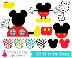 Mickey Club Clipart set mickey clubhouse inspired by Partymazing