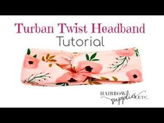 Twist Turban Headband Tutorial – DIY Baby Head Wrap – Hairbow Supplies, … – c… Twist Turban Headband Tutorial – DIY Baby Head Wrap – Hairbow Supplies, … – knutselen – Turban Headband Tutorial, Baby Turban Headband, Diy Baby Headbands, Hair Bow Tutorial, Head Wrap Headband, Twist Headband, Headband Pattern, Knitted Headband, Diy Tutorial