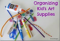 How do you organize your kids' art supplies?  Here's a great round-up of ideas from Dirt and Boogers.