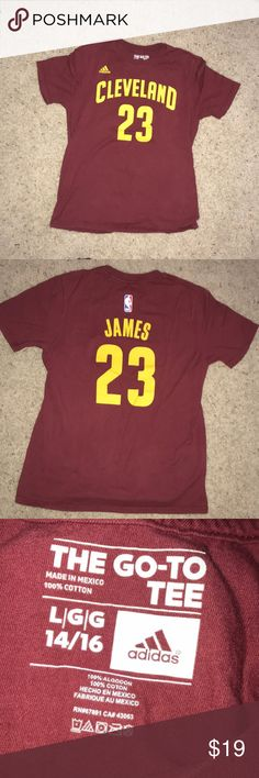 2a12415f Cleveland Cavs LeBron James T-Shirt❗ Never worn OG LeBron James T-Shirt  with Number on Back adidas Shirts & Tops