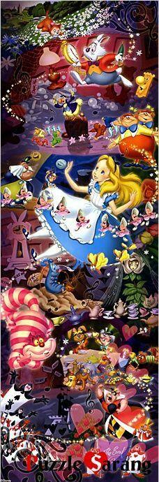 about Tenyo Japan Jigsaw Puzzle Disney Alice in Wonderland Pieces) Alice's Wonderland Down The Rabbit Hole-Serafini Amelia Alicia Wonderland, Alice In Wonderland Rabbit, Adventures In Wonderland, Alice Rabbit, Alice In Wonderland Artwork, Disney Love, Disney Art, Disney Pixar, Walt Disney