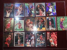 Lot of 16 Scottie Pippen Cards w/ Inserts! Ants Marching, Scottie Pippen, Nba Sports, Fat Cats, Trading Cards, Badge, Baseball Cards, Badges