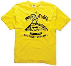 Mountain Goat T-shirt 100% cotton Fruit of the Loom hiking rock climbing camping…