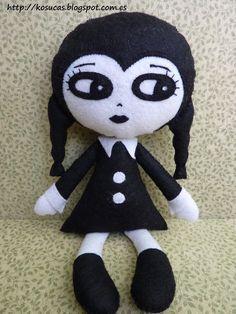 Wednesday Felt Doll(kosucas)