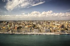 A Panoramic View of Brindisi Waterfront