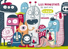 Elise Gravel is an author and illustrator from Montreal. Illustration Kawaii, Cute Monster Illustration, Book Illustration, Digital Illustration, Elise Gravel, Deco Retro, Storybook Characters, Cute Monsters, Dragons