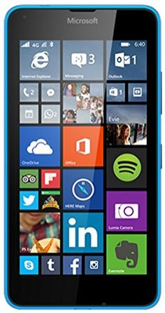 MICROSOFT LUMIA 640 LTE 5″ 8GB 4G LTE WINDOWS PHONE 8.1+ TIM CYAN BLUE