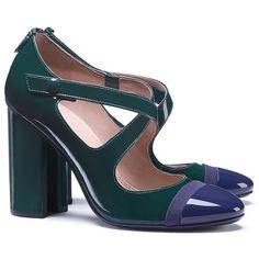 Tory Burch Amble Crisscross Pump ($375) ❤ liked on Polyvore featuring shoes, pumps, polish shoes, toe cap shoes, tory burch, cap toe shoes and evening pumps