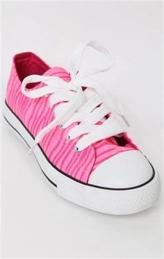 low top sneaker with washed neon glitter zebra print at deb's! I will be buying these!