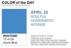 …y el color de hoy es Azul Celeste, un color conmovedor, carismático, intenso. Más info en http://www.pyma.com/tutoriales-y-trucos/y-los-colores-pantone-de-esta-semana-sonsemana-del-25-de-abril-al-1-de-mayo/