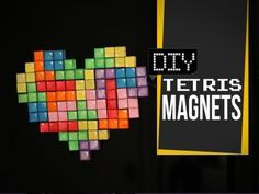 Made this Cute #Tetris Magnet Heart! Check out the #DIY tutorial.