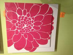 Pink flower wall art from ashley furniture