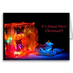 Almost Christmas Greeting Cards by Florals by Fred #zazzle #photogift #gift #Christmas