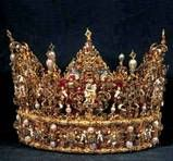 Christian IV of Denmark's crown. Gold, enamel, diamonds and pearls. c.1595-1596