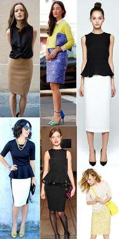These pencil skirts are great! Ladies: which one is your favorite? #Fashion #Style