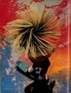 Foto do skatista Stacy Peralta, por Craig Stecyk III, 1976.