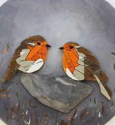 Table round table couple of birds mosaic Mosaic Artwork, Mosaic Wall A . - New Ideas - - Mosaic Rocks, Mosaic Stepping Stones, Stone Mosaic, Mosaic Glass, Stained Glass, Mosaic Garden Art, Mosaic Tile Art, Mosaic Artwork, Mirror Mosaic