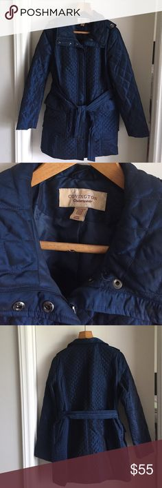 ❣️Covington quilted navy blue jacket❣️ Excellent condition Jackets & Coats