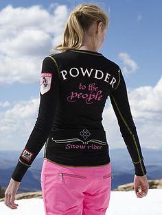 Snowrider powder ski t-shirt.
